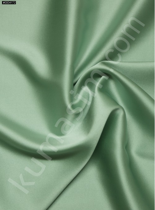 Elbiselik Mint %95 İpek - %5 Likra Saten Kumaş - 106 - K6007