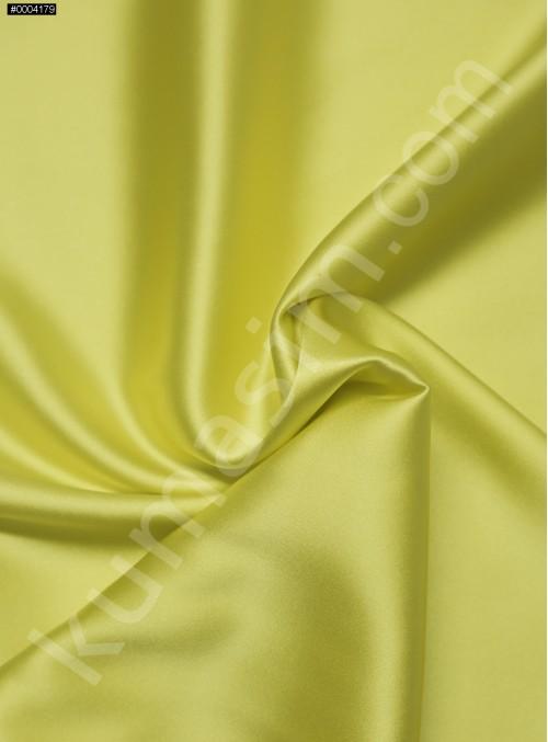 Elbiselik Neon Sarı %95 İpek - %5 Likra Saten Kumaş - 128 - K6007