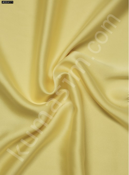 Elbiselik Sarı %95 İpek - %5 Likra Saten Kumaş - 105 - K6007