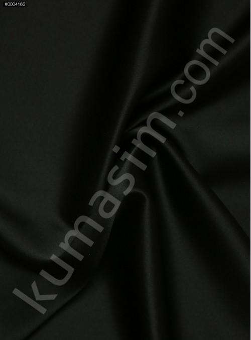 Elbiselik Siyah %95 İpek - %5 Likra Saten Kumaş - 123 - K6007