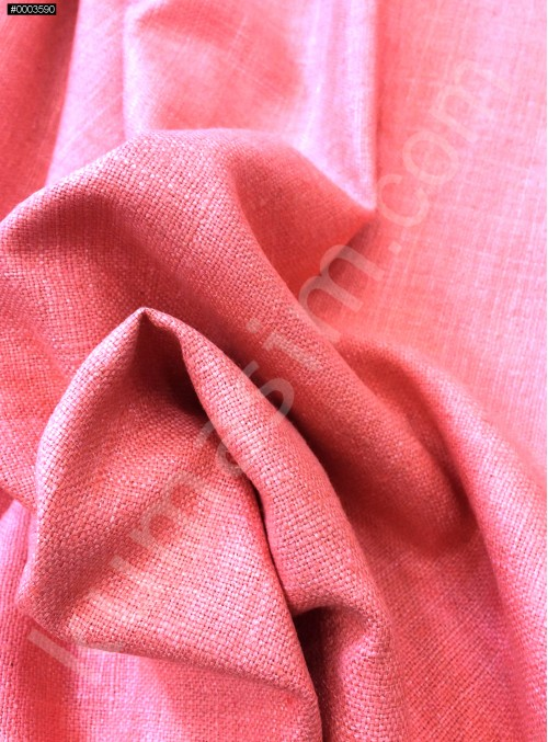Elbiselik Yumuşak c102 %100 Mercan İpek Monza Keten Kumaş - K6029