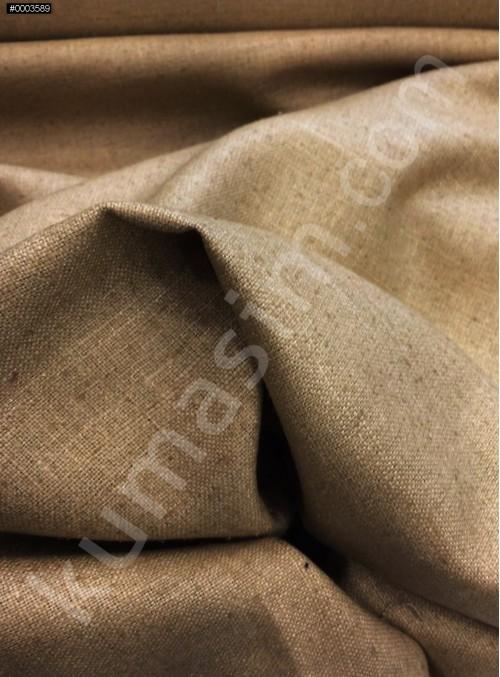 Elbiselik Yumuşak c103 %100 Karamel İpek Monza Keten Kumaş - K6029