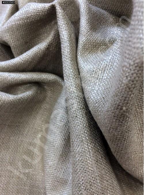 Elbiselik Yumuşak c104 %100 Gri Taş İpek Monza Keten Kumaş - K6029