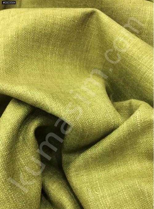 Elbiselik Yumuşak c106 %100 Zeytin Yeşili İpek Monza Keten Kumaş - K6029