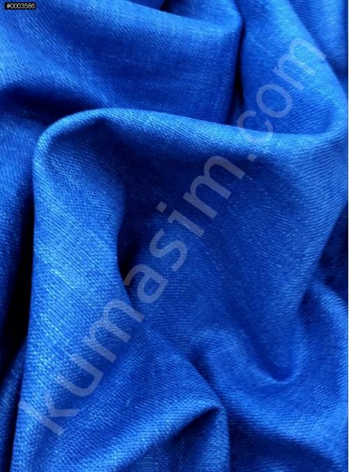 Elbiselik Yumuşak c107 %100 Mavi İpek Monza Keten Kumaş - K6029