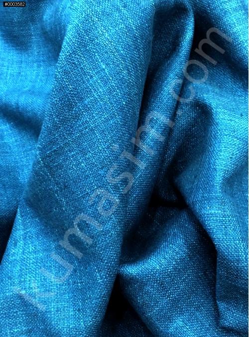 Elbiselik Yumuşak c109 %100 Petrol İpek Monza Keten Kumaş - K6029