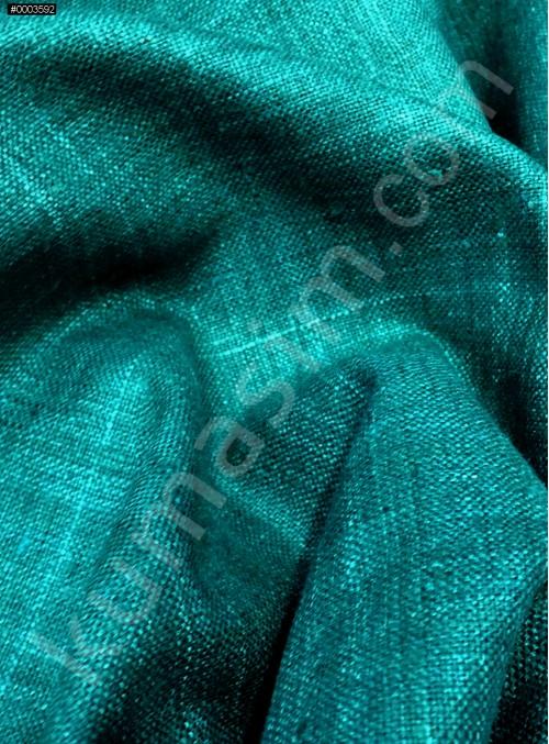 Elbiselik Yumuşak c110 %100 Yeşil İpek Monza Keten Kumaş - K6029