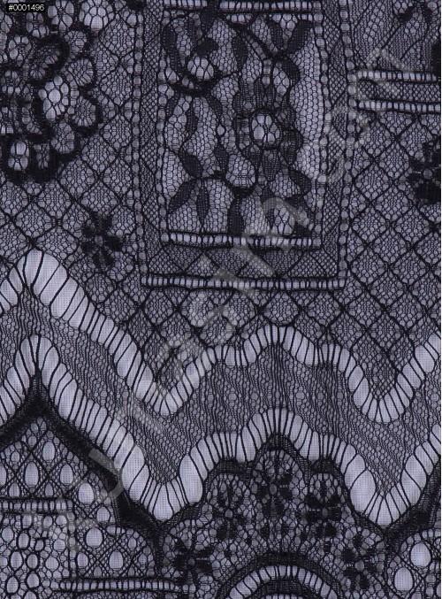 İnce Fransız Danteli - Siyah - K8002