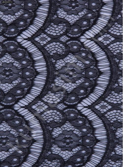 İnce Fransız Danteli - Siyah - K8004