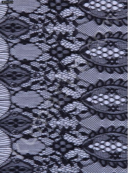 İnce Fransız Danteli - Siyah - K8013