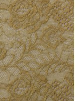 File Üzeri Çiçek Desenli Simli Nakışlı Açık Yeşil Kumaş - K8021