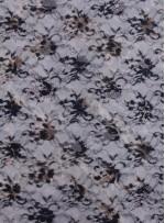 Çiçek Desenli Baskılı Dantel Kumaş - K8023