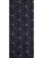 Dantel Üzeri Payet Kumaş - Siyah - K8029