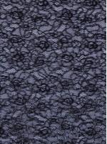 Dantel Üzeri Payet Kumaş - Siyah - K8030