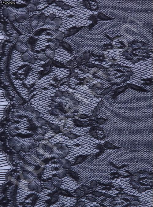 İnce Fransız Danteli - Siyah - K8038