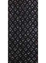Baklava Desenli Payetli Siyah Dantel Kumaş - K8050