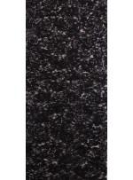 Gül Desenli Siyah Payetli Dantel Kumaş - K8051