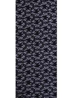 Pamuklu Dantel Kumaş  - Siyah - K8052