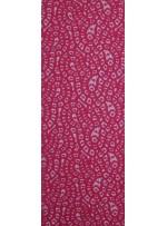 Desenli Dantel Kumaş - Nar Çiçeği - K8054