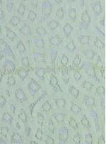 Desenli Dantel Kumaş - Sarı - K8054