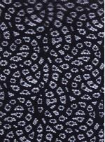 Desenli Dantel Kumaş - Siyah - K8054
