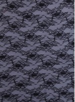 İnce Fransız Danteli - Siyah - K8074