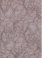 Çiçek Desenli Kordoneli Bej c57 Dantel Kumaş - K8803