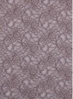 Çiçek Desenli Kordoneli Devetüyü Kahve c56 Dantel Kumaş - K8803