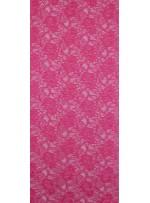 Çiçek Desenli Kordoneli Fuşya c74 Dantel Kumaş - K8803