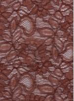 Çiçek Desenli Kordoneli Kahverengi c68 Dantel Kumaş - K8803