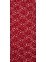 Çiçek Desenli Kordoneli Kırmızı c37 Dantel Kumaş - K8803