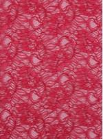 Çiçek Desenli Kordoneli Kırmızı c41 Dantel Kumaş - K8803
