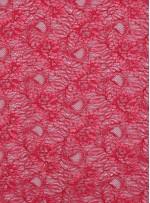 Çiçek Desenli Kordoneli Kırmızı c5 Dantel Kumaş - K8803