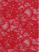 Çiçek Desenli Kordoneli Kırmızı c62 Dantel Kumaş - K8803