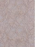 Çiçek Desenli Kordoneli Krem c75 Dantel Kumaş - K8803