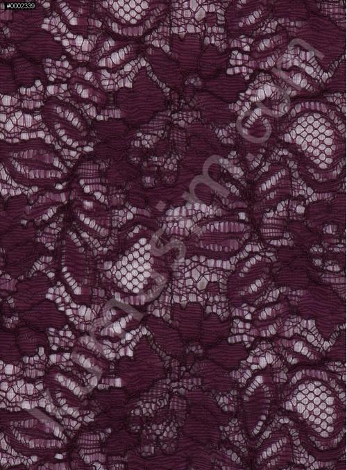 Çiçek Desenli Kordoneli Mor c21 Dantel Kumaş - K8803