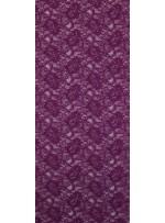 Çiçek Desenli Kordoneli Mor c59 Dantel Kumaş - K8803