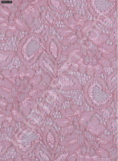 Çiçek Desenli Kordoneli Pudra c11 Dantel Kumaş - K8803