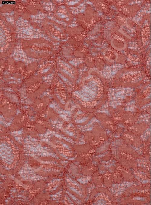 Çiçek Desenli Kordoneli Pudra c53 Dantel Kumaş - K8803