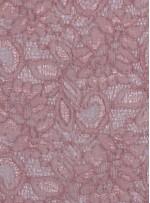 Çiçek Desenli Kordoneli Pudra c67 Dantel Kumaş - K8803