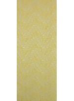 Çiçek Desenli Kordoneli Sarı c70 Dantel Kumaş - K8803
