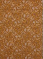 Çiçek Desenli Kordoneli Sarı c71 Dantel Kumaş - K8803