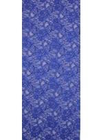 Çiçek Desenli Kordoneli Saks c6-1 Dantel Kumaş - K8803
