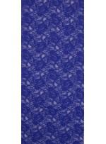 Çiçek Desenli Kordoneli Sax c6 Dantel Kumaş - K8803