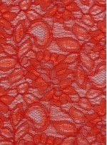 Çiçek Desenli Kordoneli Turuncu c48 Dantel Kumaş - K8803