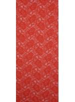 Çiçek Desenli Kordoneli Turuncu c66 Dantel Kumaş - K8803