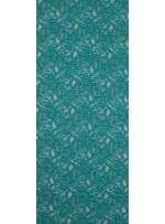Çiçek Desenli Kordoneli Yeşil c65 Dantel Kumaş - K8803