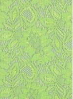 Çiçek Desenli Kordoneli Yeşil c69 Dantel Kumaş - K8803