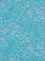 Çiçek Desenli Kordoneli Yeşil c72 Dantel Kumaş - K8803