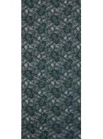 Çiçek Desenli Kordoneli Zümrüt Yeşil c43 Dantel Kumaş - K8803